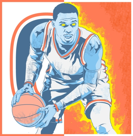 "Russ Westbrook for ""Posterizes"""